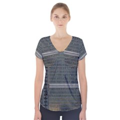 Building Pattern Short Sleeve Front Detail Top