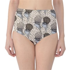 Bouffant Birds High Waist Bikini Bottoms