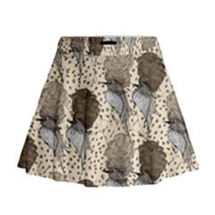 Bouffant Birds Mini Flare Skirt