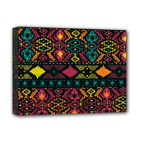 Bohemian Patterns Tribal Deluxe Canvas 16  X 12