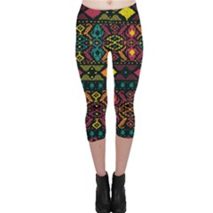 Bohemian Patterns Tribal Capri Leggings