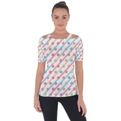 Simple Saturated Pattern Short Sleeve Top