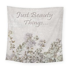 Shabby Chic Style Motivational Quote Square Tapestry (large)