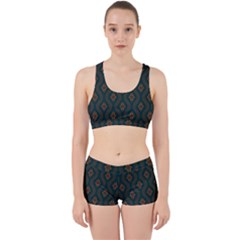 Ornamental Pattern Background Work It Out Sports Bra Set