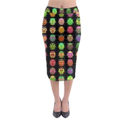 Beetles Insects Bugs Midi Pencil Skirt