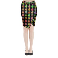 Beetles Insects Bugs Midi Wrap Pencil Skirt