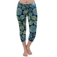 Blue Lotus Capri Winter Leggings