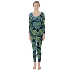 Blue Lotus Long Sleeve Catsuit
