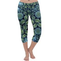 Blue Lotus Capri Yoga Leggings
