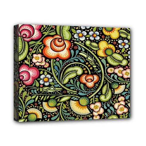 Bohemia Floral Pattern Canvas 10  X 8