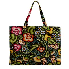 Bohemia Floral Pattern Zipper Mini Tote Bag