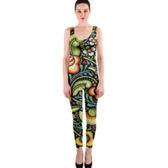 Bohemia Floral Pattern Onepiece Catsuit
