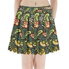 Bohemia Floral Pattern Pleated Mini Skirt