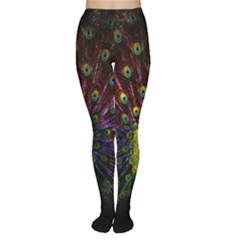 Beautiful Peacock Feather Women s Tights