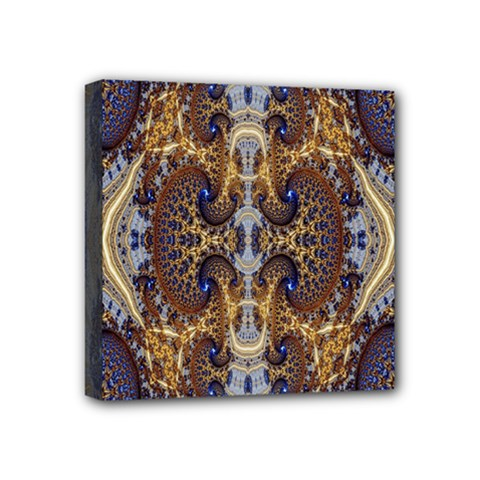 Baroque Fractal Pattern Mini Canvas 4  X 4