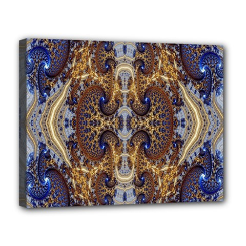 Baroque Fractal Pattern Canvas 14  X 11