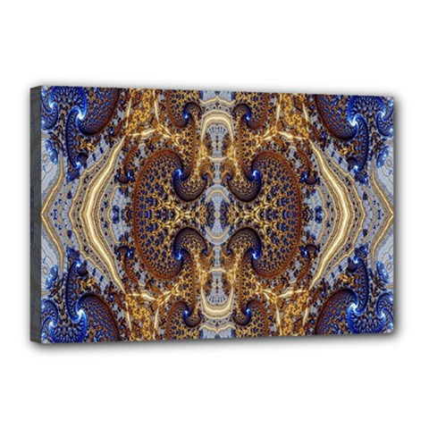 Baroque Fractal Pattern Canvas 18  X 12