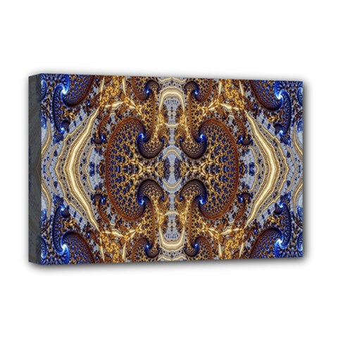 Baroque Fractal Pattern Deluxe Canvas 18  X 12