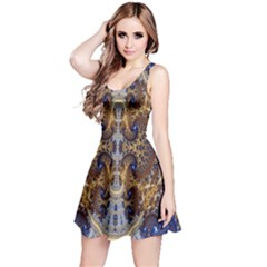 Baroque Fractal Pattern Reversible Sleeveless Dress