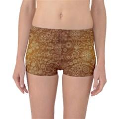 Batik Art Pattern Boyleg Bikini Bottoms