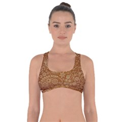 Batik Art Pattern Got No Strings Sports Bra