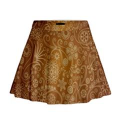 Batik Art Pattern Mini Flare Skirt
