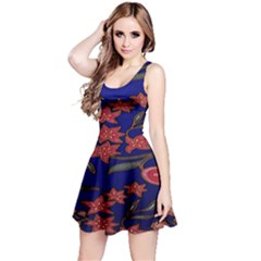 Batik  Fabric Reversible Sleeveless Dress