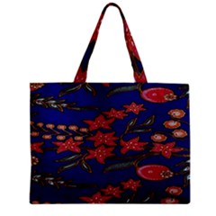 Batik  Fabric Zipper Mini Tote Bag