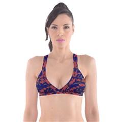 Batik  Fabric Plunge Bikini Top