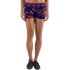 Batik  Fabric Yoga Shorts