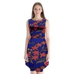 Batik  Fabric Sleeveless Chiffon Dress