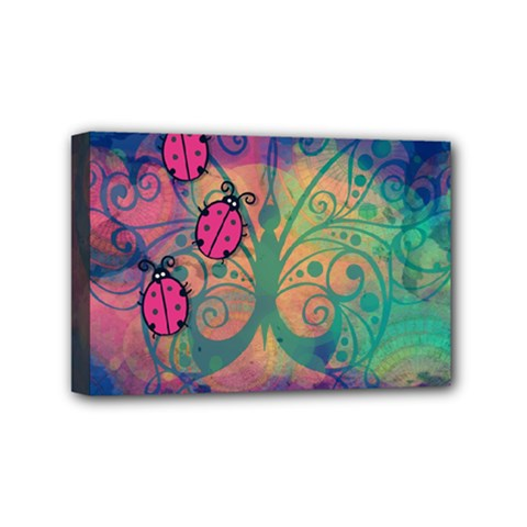 Background Colorful Bugs Mini Canvas 6  X 4