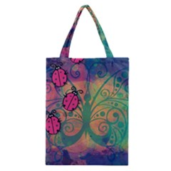 Background Colorful Bugs Classic Tote Bag