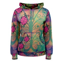 Background Colorful Bugs Women s Pullover Hoodie