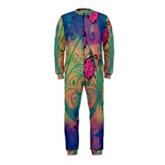 Background Colorful Bugs Onepiece Jumpsuit (kids)