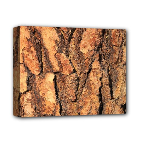Bark Texture Wood Large Rough Red Wood Outside California Deluxe Canvas 14  X 11