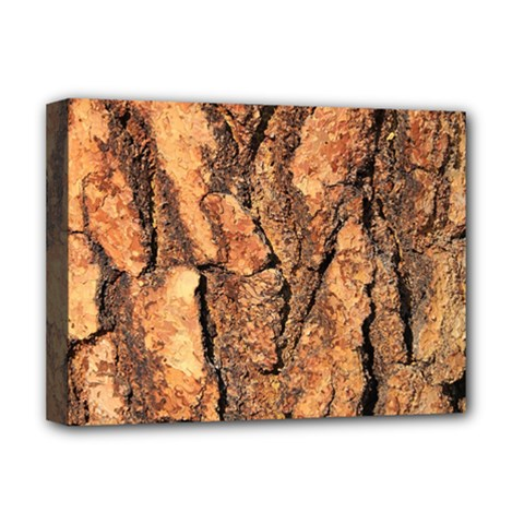 Bark Texture Wood Large Rough Red Wood Outside California Deluxe Canvas 16  X 12