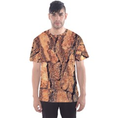 Bark Texture Wood Large Rough Red Wood Outside California Men s Sports Mesh Tee