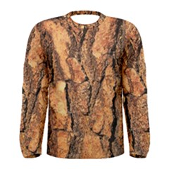 Bark Texture Wood Large Rough Red Wood Outside California Men s Long Sleeve Tee
