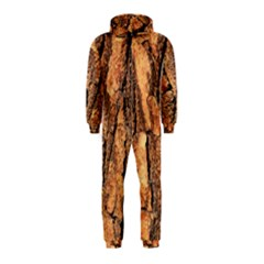 Bark Texture Wood Large Rough Red Wood Outside California Hooded Jumpsuit (kids)