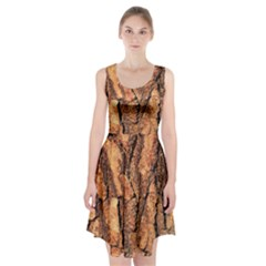 Bark Texture Wood Large Rough Red Wood Outside California Racerback Midi Dress