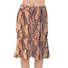Bark Texture Wood Large Rough Red Wood Outside California Mermaid Skirt