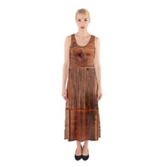 Barnwood Unfinished Sleeveless Maxi Dress