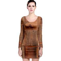 Barnwood Unfinished Long Sleeve Bodycon Dress