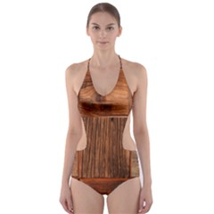 Barnwood Unfinished Cut Out One Piece Swimsuit