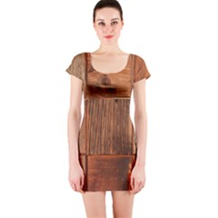 Barnwood Unfinished Short Sleeve Bodycon Dress