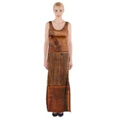 Barnwood Unfinished Maxi Thigh Split Dress
