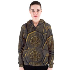 Aztec Runes Women s Zipper Hoodie