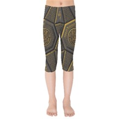 Aztec Runes Kids  Capri Leggings