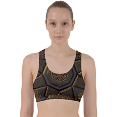 Aztec Runes Back Weave Sports Bra